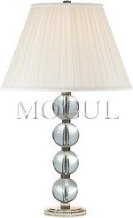 Edmonds Table Lamp in Crystal and Polished Silver